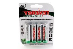 1 Card: 4pcs Tenergy Solar Tech AA 3.2v  400mah Lifepo4 Rech