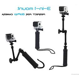 Techno Earth® 3 in 1 Mount Grip Pol Arm Extension Perfect F