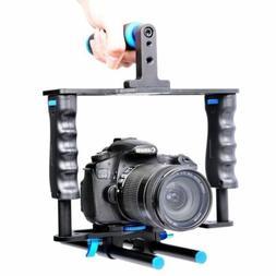 """1/4"""" Thread Alluminum Video Camera Cage Kit for Nikon Canon"""
