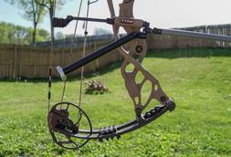 "10"" Adjustable Side Mount, Rear Back-Bar Archery Bow Stabili"