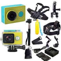 100% XiaoMi Yi WIFI Sports Action Camera+Accessories +Charge