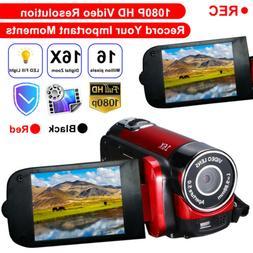 Camcorder Digital Video Camera 1080P 16x Zoom DV AV  Camera
