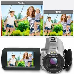 Besteker 1080P HD Video Camera for YouTube Vlogging Camera w