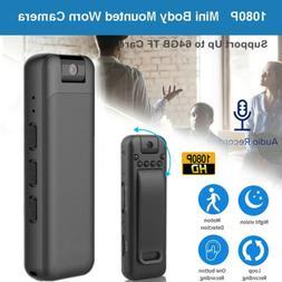 1080P HD Video DVR Clip IR Night Cam 8-Hour Camcorder Mini P