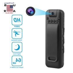 1080P HD Video DVR IR Night Cam 8-hour Camcorder Mini Police