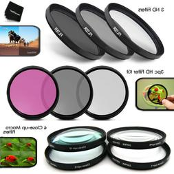 10pc 67mm HD + ND + Macro FILTERS KIT f/ Nikon D3S, D3X, D3,