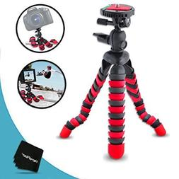 "12"" Inch Flexible Tripod with Quick Release Plate for Cano"