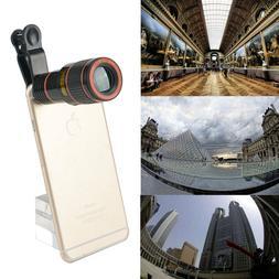 12x Optical Zoom Lens Telescope Telephoto Clip Mobile Cell P