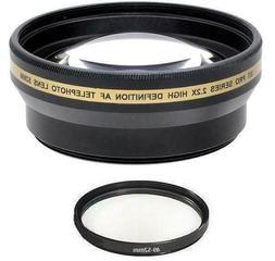 2.2x Telephoto Lens for Panasonic HC-WX970 HC-X920K HC-X900K