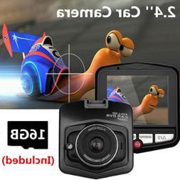 2.4'' Dash Cam 170° HD Car DVR Camera Video Camcorder Night