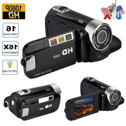 "2.7""1080P HD Digital Video Camera Camcorder Led Vision Recha"