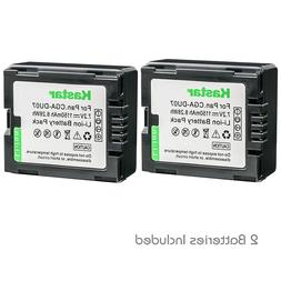 Kastar 2 Battery for Panasonic CGR-DU06 CGR-DU07 VDR-D230 VD