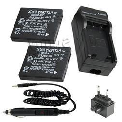 2 <font><b>Battery</b></font> + Charger for Panasonic HM-TA1