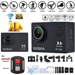 Andoer AN6000 4K 16MP WiFi Action Sports Camera 1080P HD 2""