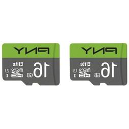 2-Pack PNY 16GB Elite Class 10 U1 microSDHC Flash Memory Car