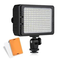 CRAPHY 204 LEDs on Video Camera LED Light with Dimmable Pane