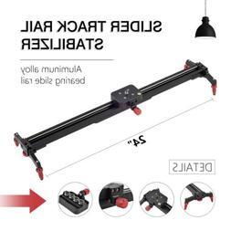 "24"" Camera Adjustable Slider Track Rail Stabilizer for DV Vi"