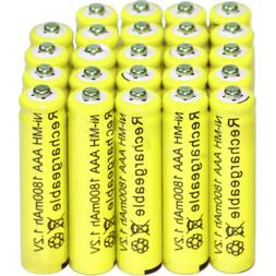 24pcs AAA Rechargeable Batteries Ni-Mh 1800mAh 1.2v Garden S