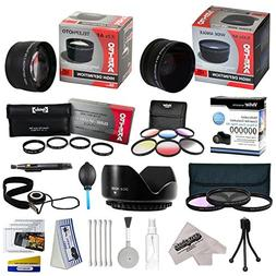 25 Piece Advanced Lens Package For The Panasonic Lumix Digit