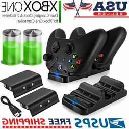 XBOX ONE Dual Charging Dock Station Controller Charger & 2 R