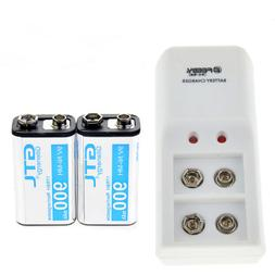 2pc Durable 9V 9 Volt 900mAh Power Ni-Mh Rechargeable Batter