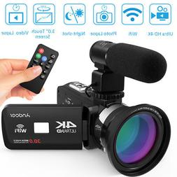 "Andoer 3.0"" 30MP 4K Ultra HD WiFi Digital Video Camera Night"