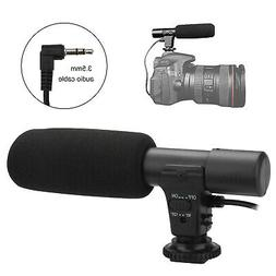 3.5mm External Stereo Microphone For DSLR Camera Canon Nikon
