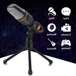 3.5mm Jack Condenser Recording Microphone with Mic Stand for