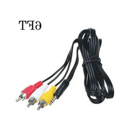PwrON 3.5mm to 3 RCA AV A/V TV Video Cable For Panasonic Vid
