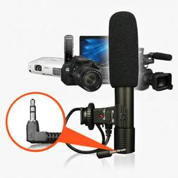 3.5mm Universal Microphone External Stereo Mic For Canon Nik