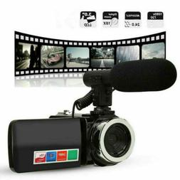 "3"" Digital Camera 1080P Video 18X ZOOM 24MP DV Camcorder Rec"