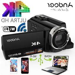 "Andoer 3 "" HDV-534K 4K 48MP WiFi Digital Video Camera 1080P"