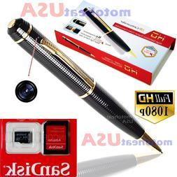 32GB Spy Hidden Camera Pen HD 1080P Video DV/DVR Camcorder R