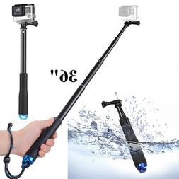 "36"" Waterproof Extension Pole Selfie Stick for GoPro Hero/Se"