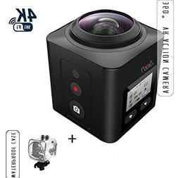 Zision 360°Panoramic VR Full View Action Camera Travel Fish