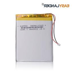 385569 3.8V 2100mAh Rechargeable Li-Polymer Li-ion Battery F