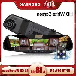 4.3 inch Car DVR Camera White screen Rearview Mirror Auto DV
