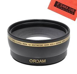 Hyla Optics New 0.43x High Definition Wide Angle Conversion Lens 43mm For Canon VIXIA HV30