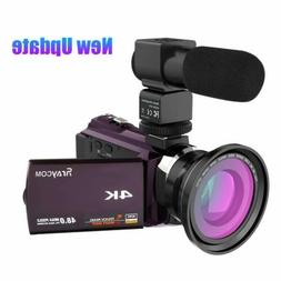 Rraycom 48MP WiFi Digital Video Camera 4K Camcorder DV Recor
