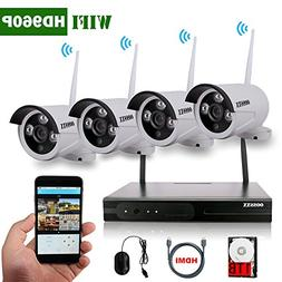 OOSSXX 8-Channel HD 1080P Wireless Network/IP Security Camer