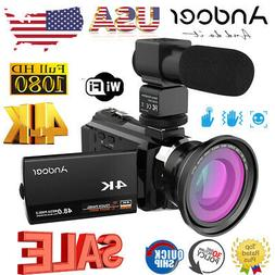 "Andoer 4K 1080P 48MP 16X 3"" WiFi Digital Video Camera Camcor"