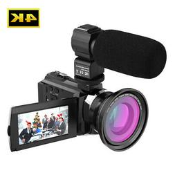 Andoer 4K 1080P 48MP WiFi Digital Video Camera Camcorder 64G