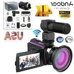 Andoer 4K 1080P 48MP WiFi Digital Video Handy Camera Recorde