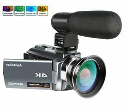 4K Camcorder 48MP 30FPS Ultra HD WiFi Video Camera IR Night