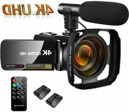 4K Camcorder Video Camera,Vlogging Camera for YouTube 30MP C