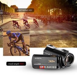 4K UHD 24MP Digital Video Camera Camcorder DV 12X Optical Zo