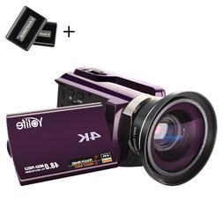 "4K Ultra HD 3.0"" 16X ZOOM Recorder Handheld Digital Video DV"
