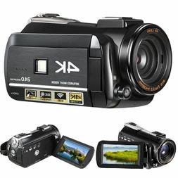 4K Ultra HD 60FPS Video Camera WIFI Video Camcorder Wide Ang