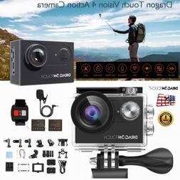 Dragon Touch 4K WiFi 16MP Action Camera Underwater Sports Ca