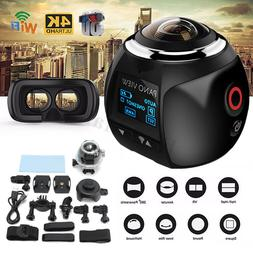 4K Wifi 360 Degree HD Ultra Panoramic Sport Camera Action Dr